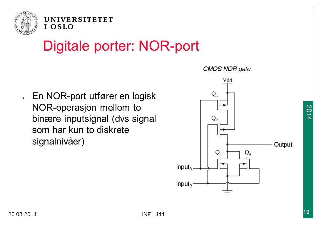 Digitale porter: NOR-port
