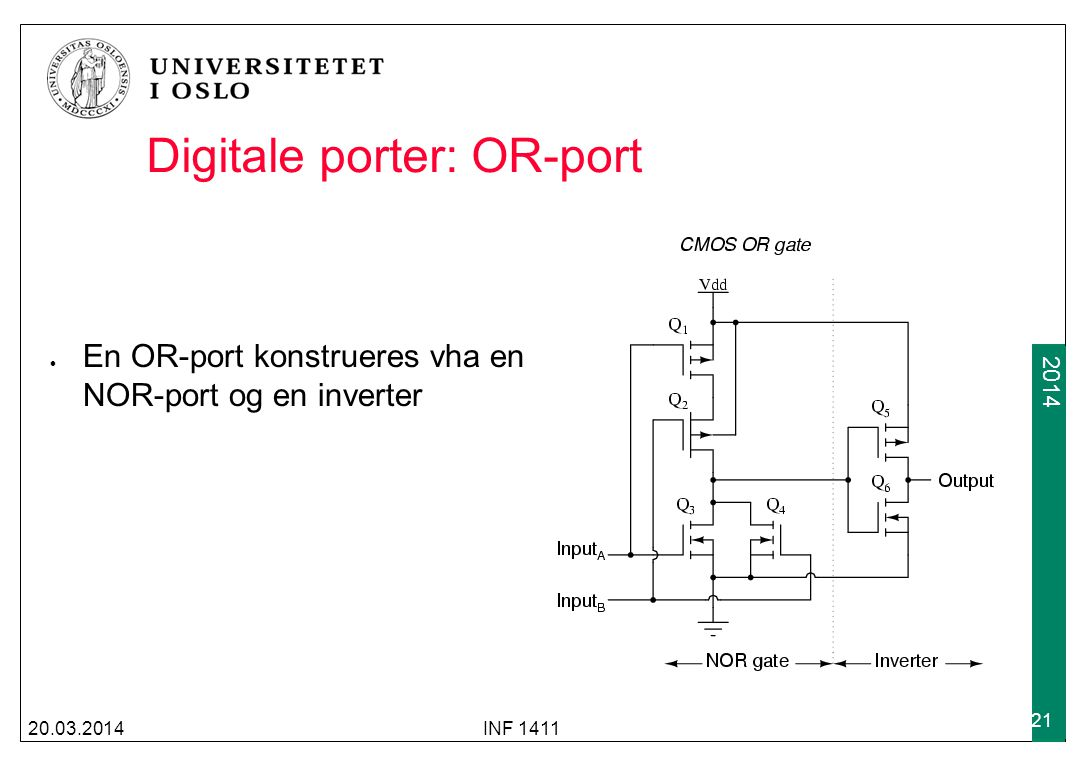 Digitale porter: OR-port