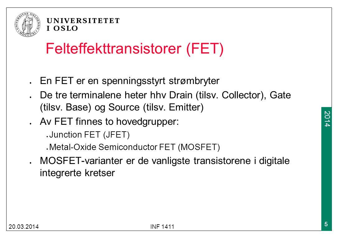 Felteffekttransistorer (FET)
