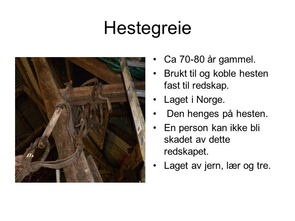 Hestegreie Ca 70-80 år gammel.