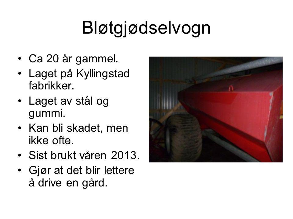 Bløtgjødselvogn Ca 20 år gammel. Laget på Kyllingstad fabrikker.