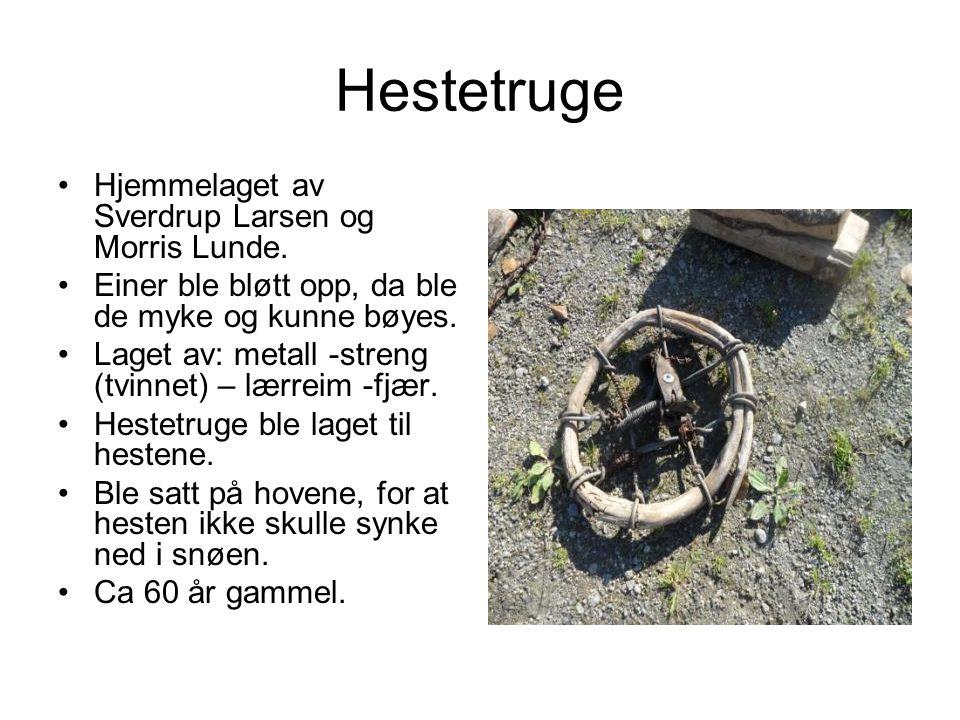 Hestetruge Hjemmelaget av Sverdrup Larsen og Morris Lunde.