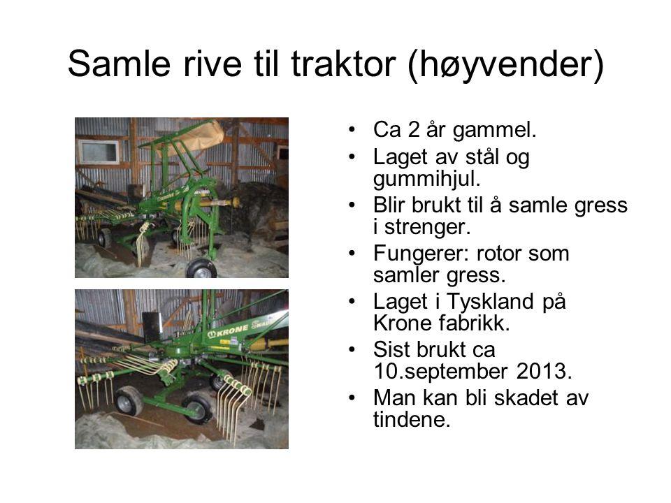 Samle rive til traktor (høyvender)