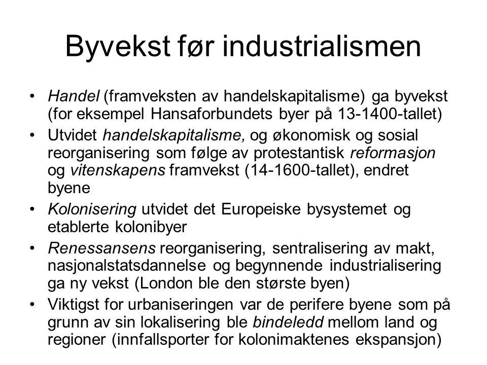 Byvekst før industrialismen