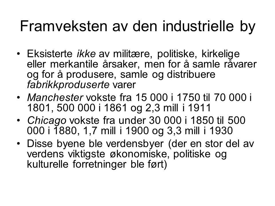 Framveksten av den industrielle by