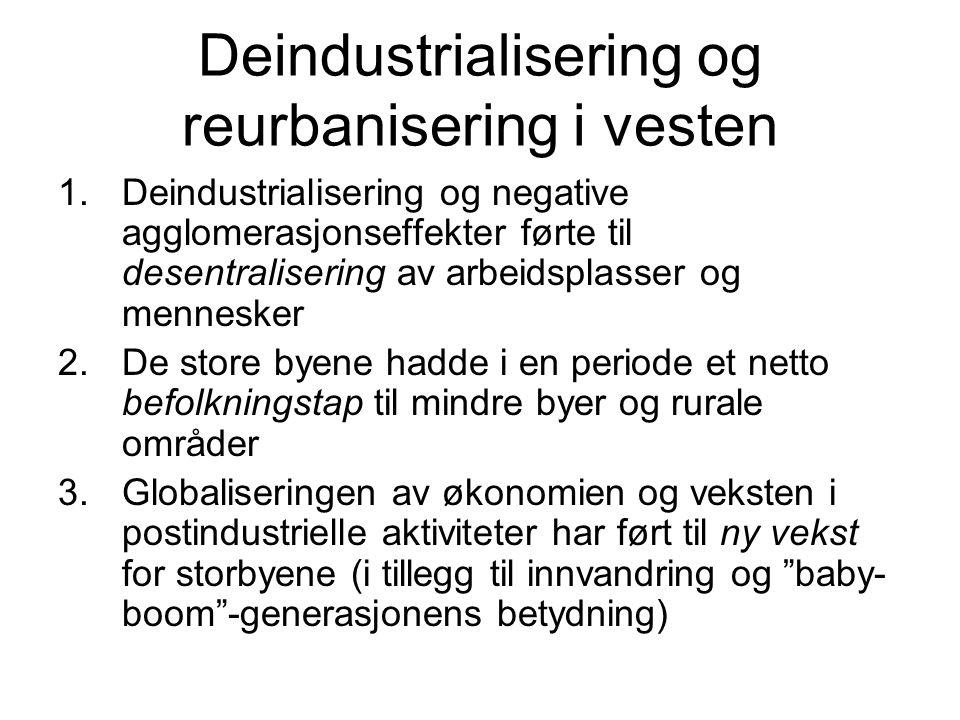 Deindustrialisering og reurbanisering i vesten