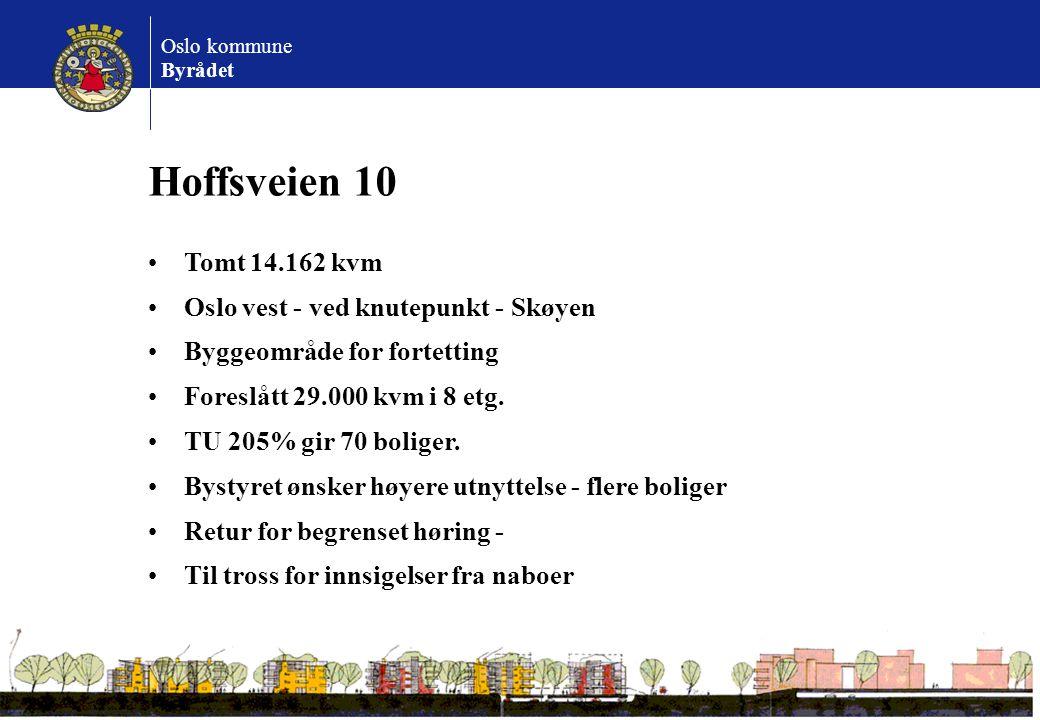 Hoffsveien 10 Tomt 14.162 kvm Oslo vest - ved knutepunkt - Skøyen