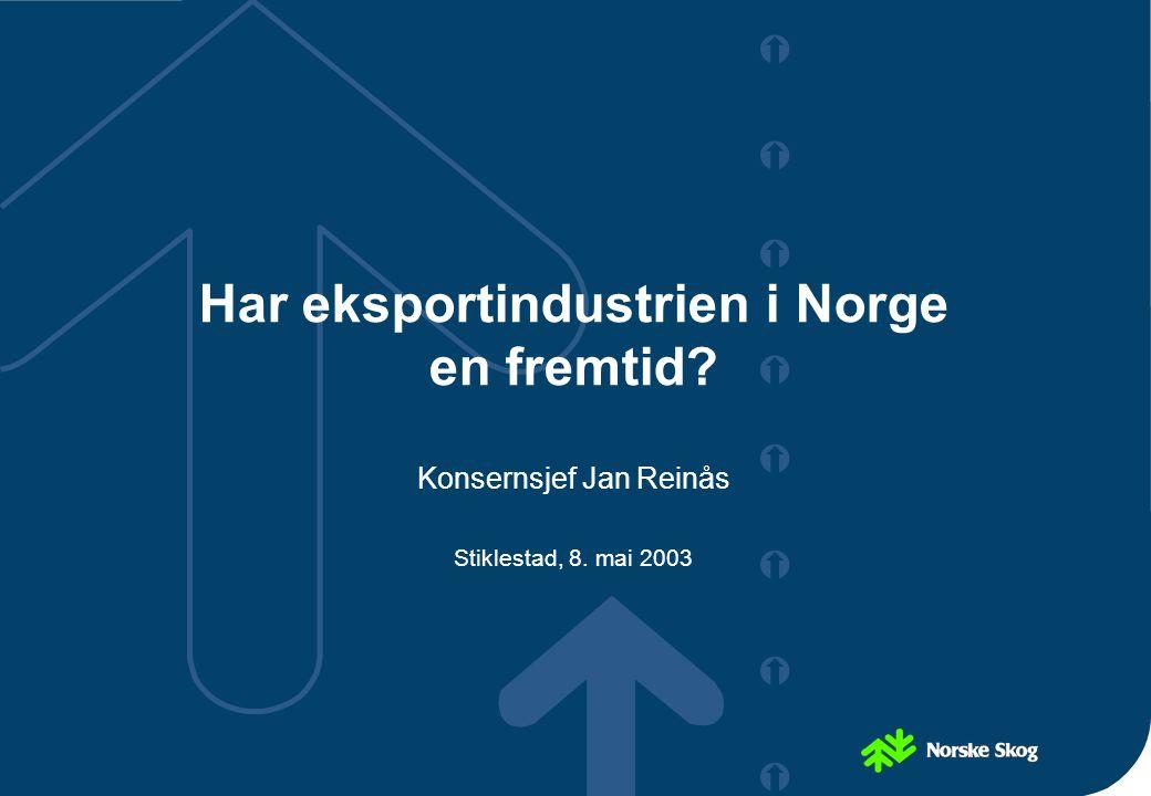 Har eksportindustrien i Norge en fremtid