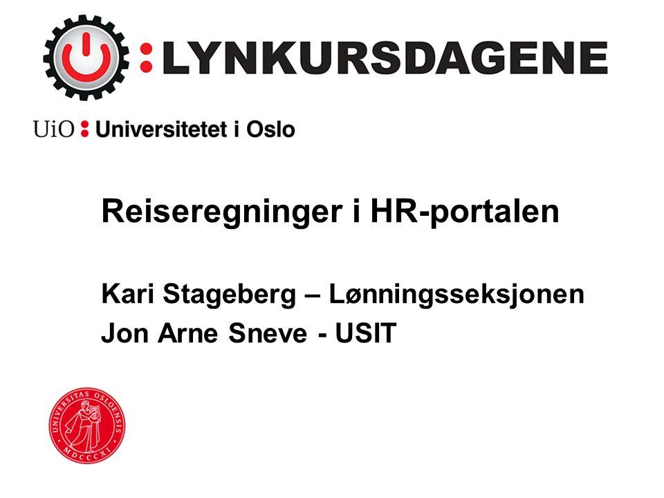 Reiseregninger i HR-portalen