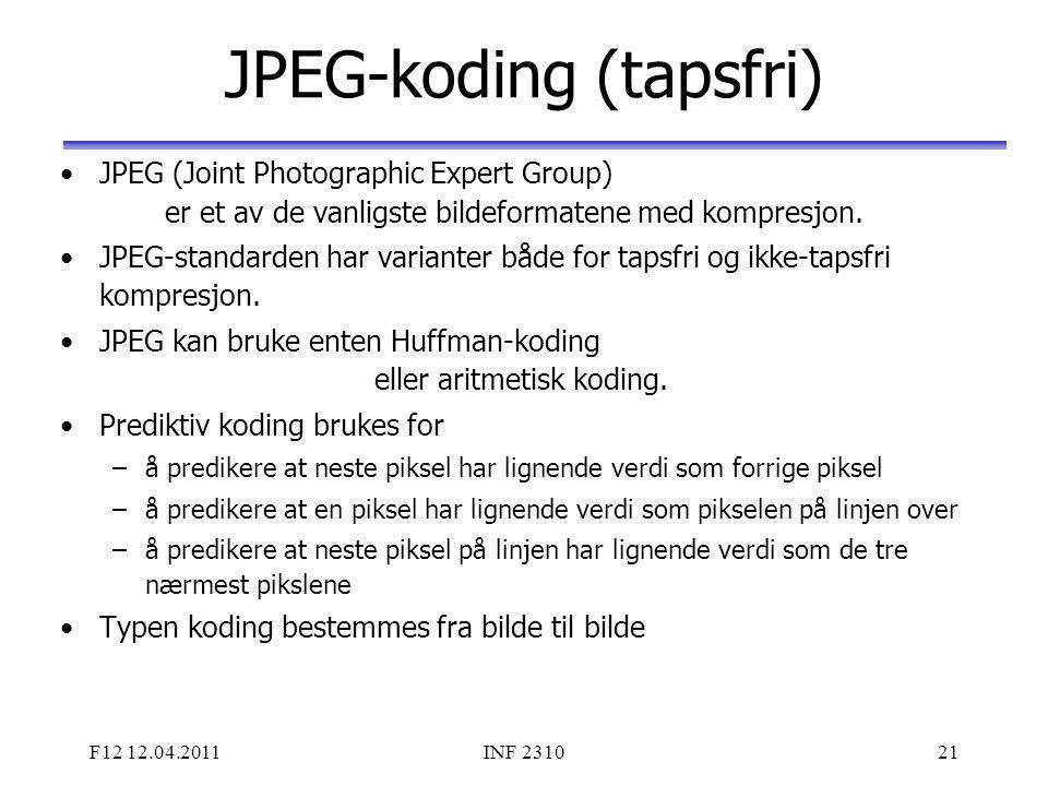 JPEG-koding (tapsfri)