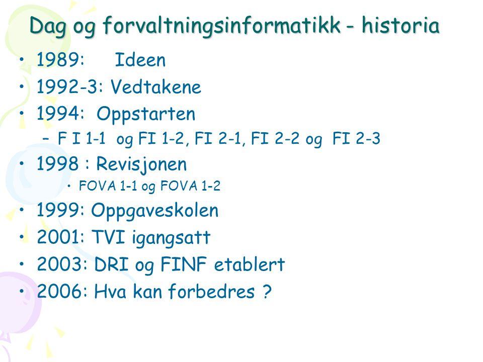 Dag og forvaltningsinformatikk - historia