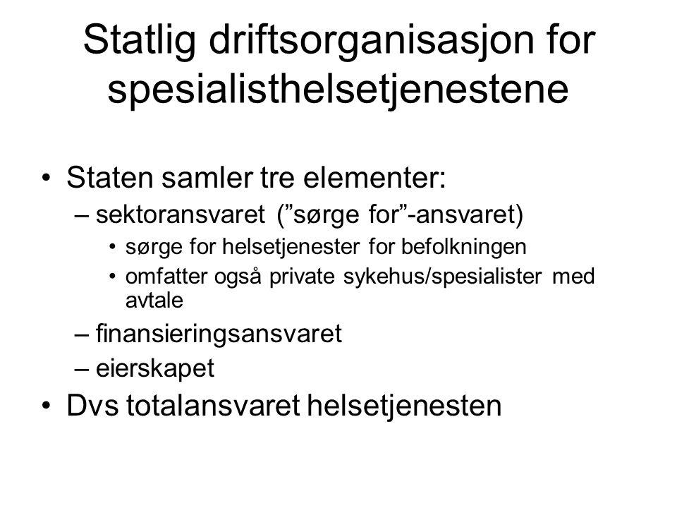 Statlig driftsorganisasjon for spesialisthelsetjenestene