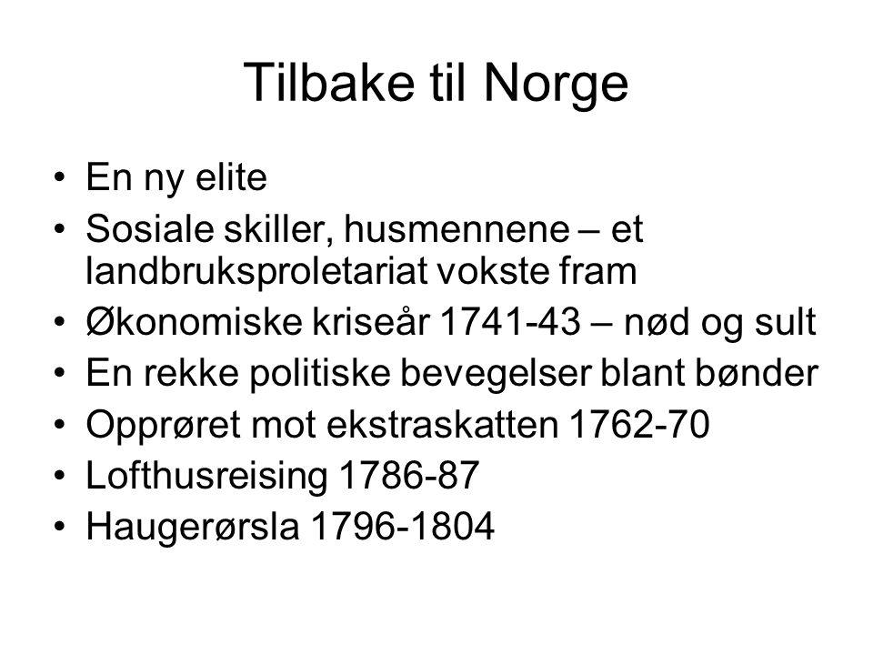 Tilbake til Norge En ny elite