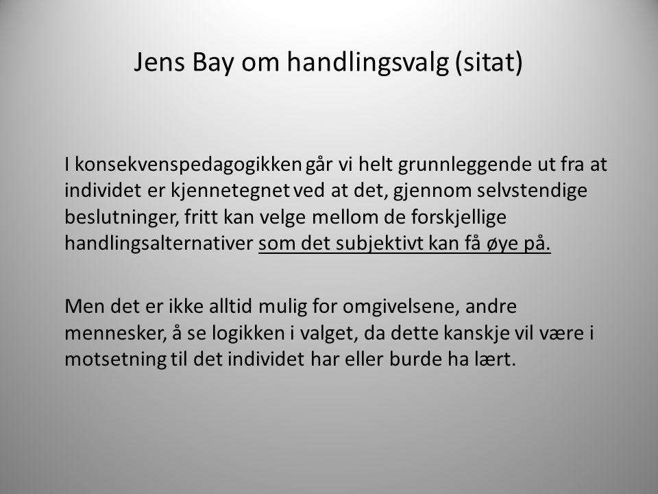 Jens Bay om handlingsvalg (sitat)