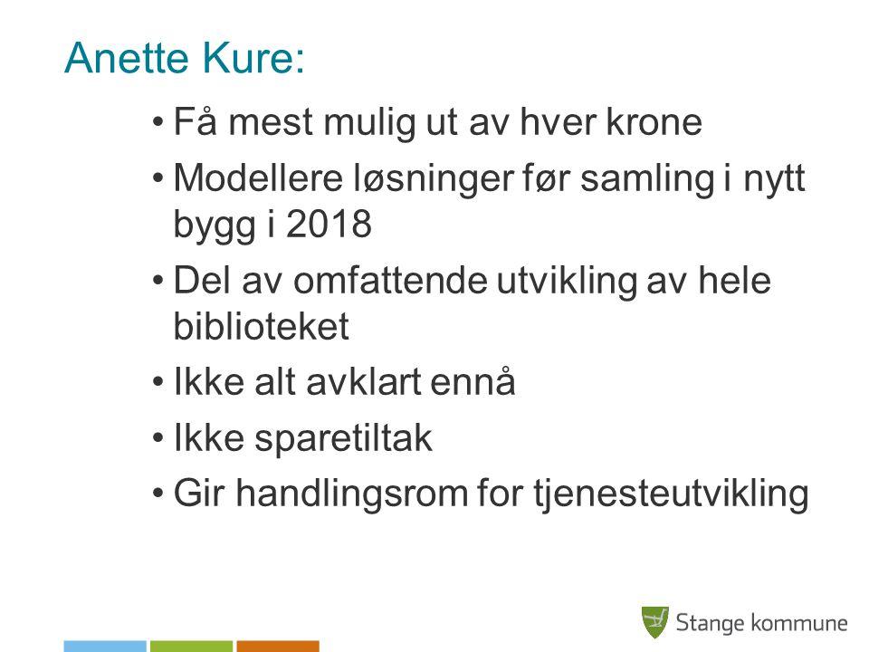 Anette Kure: Få mest mulig ut av hver krone