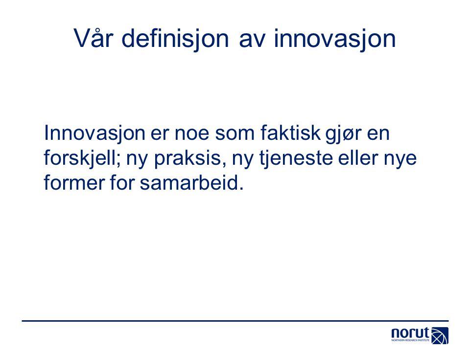 Vår definisjon av innovasjon