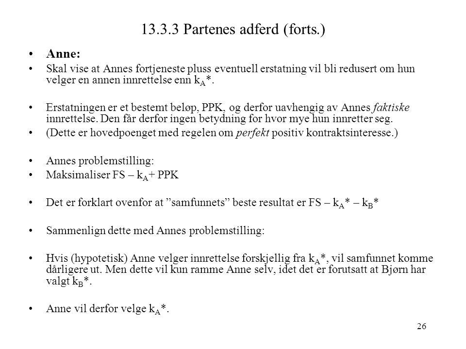 13.3.3 Partenes adferd (forts.)