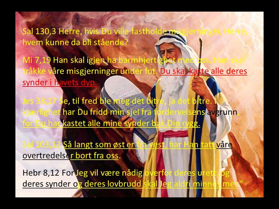 Sal 130,3 Herre, hvis Du ville fastholde misgjerninger, Herre, hvem kunne da bli stående