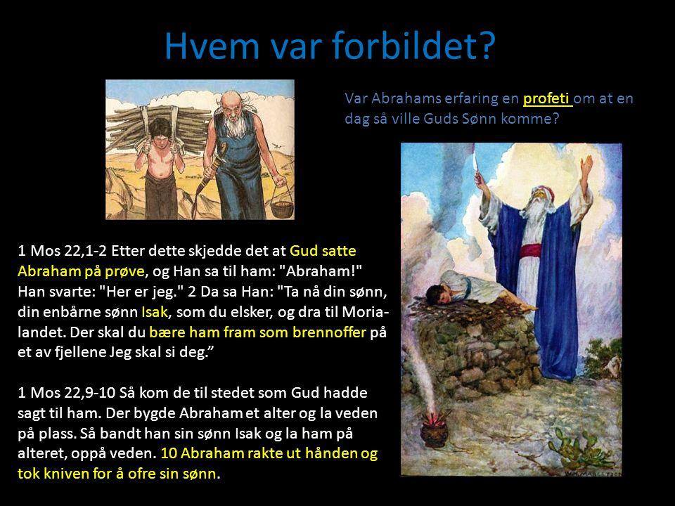 Hvem var forbildet Var Abrahams erfaring en profeti om at en dag så ville Guds Sønn komme