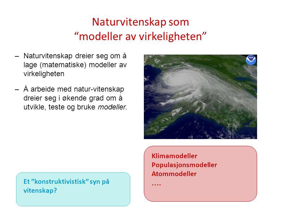 Naturvitenskap som modeller av virkeligheten