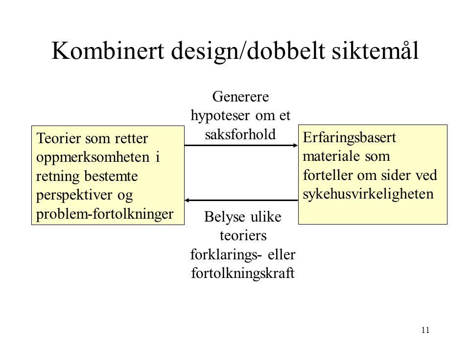 Kombinert design/dobbelt siktemål