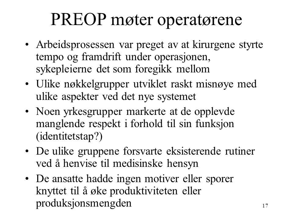 PREOP møter operatørene