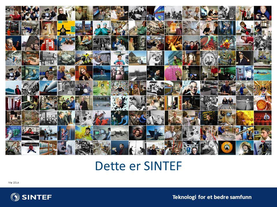 Dette er SINTEF Vår standard presentasjon om SINTEF.