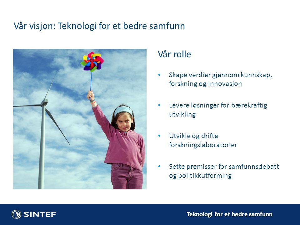 Vår visjon: Teknologi for et bedre samfunn