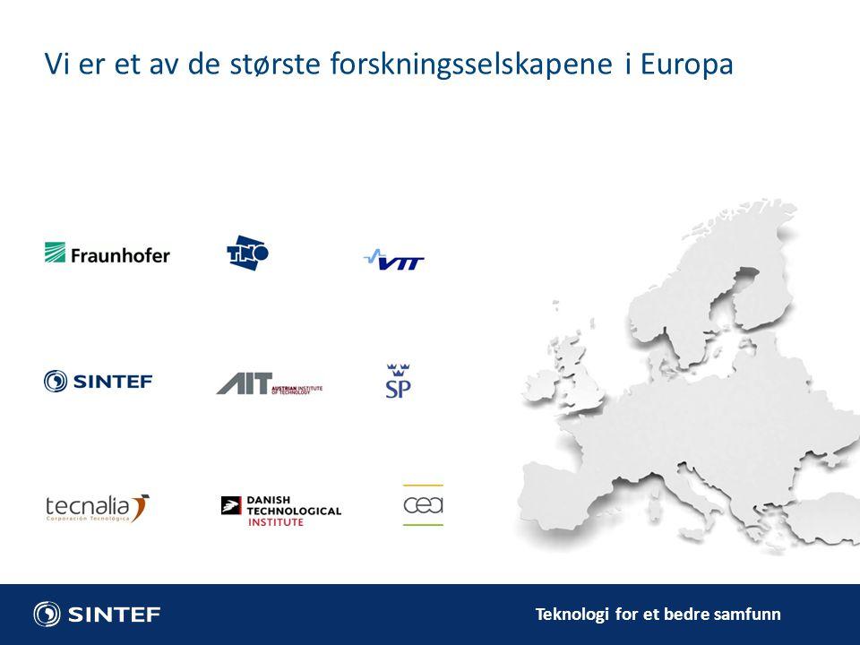 Vi er et av de største forskningsselskapene i Europa