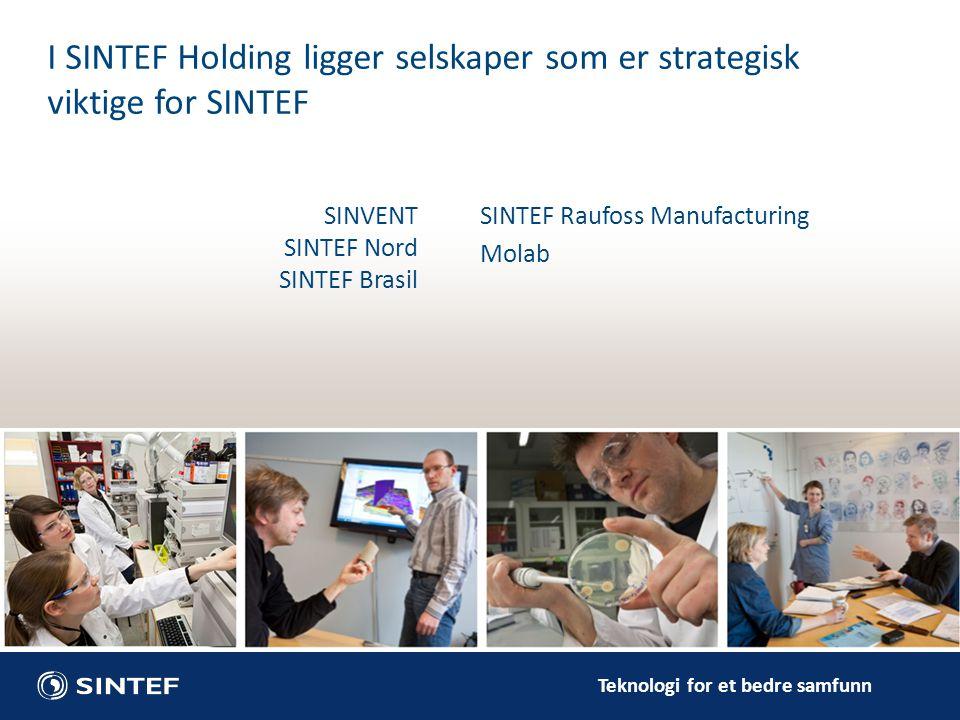 I SINTEF Holding ligger selskaper som er strategisk viktige for SINTEF