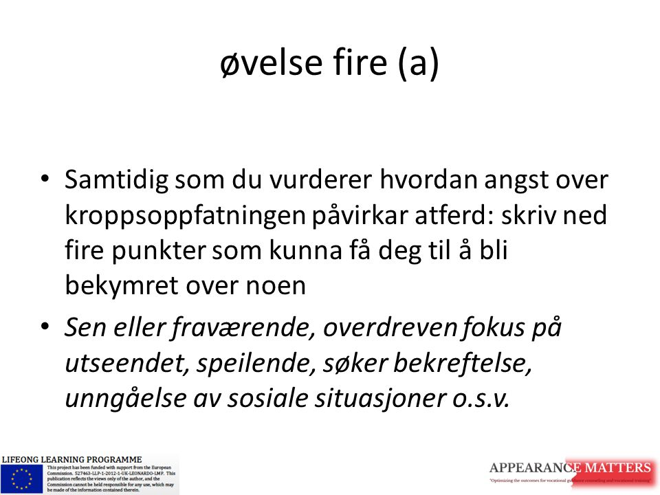 øvelse fire (a)