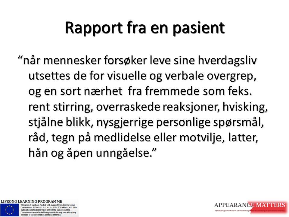 Rapport fra en pasient