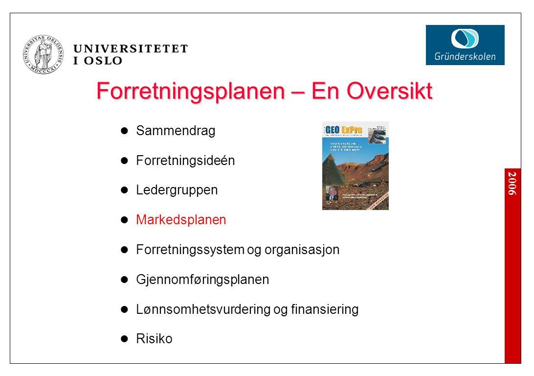 Ledergruppen Formål: Overbevise investor om at den utvalgte ledergruppe kan gjennomføre forretningsplanen.
