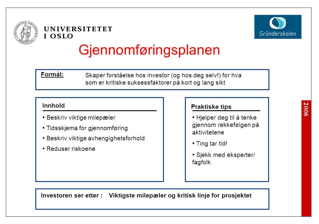 Gjennomføringsplanen