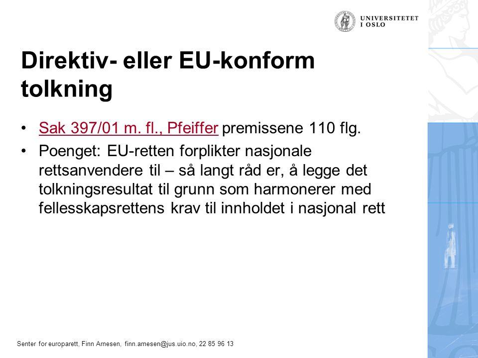 Direktiv- eller EU-konform tolkning