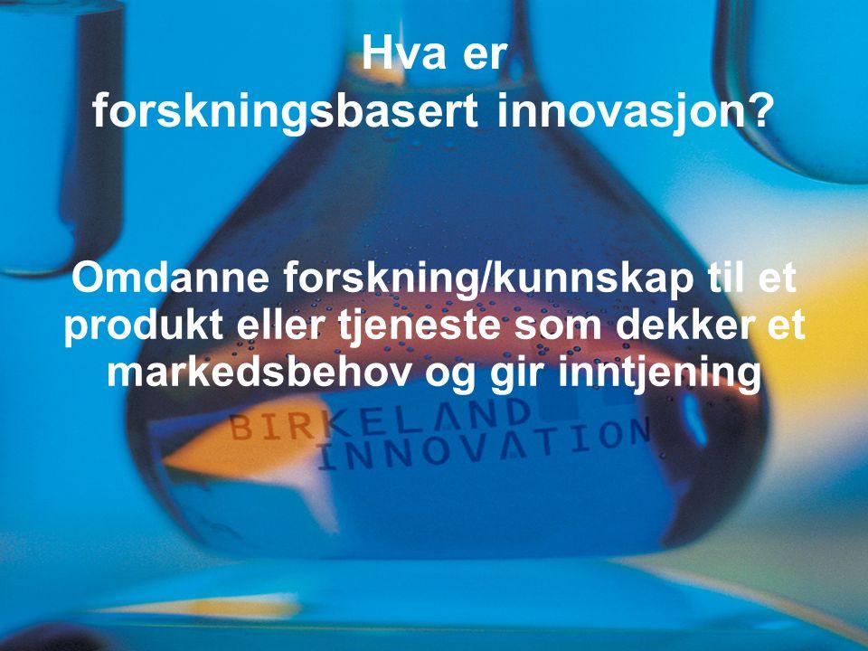 Hva er forskningsbasert innovasjon