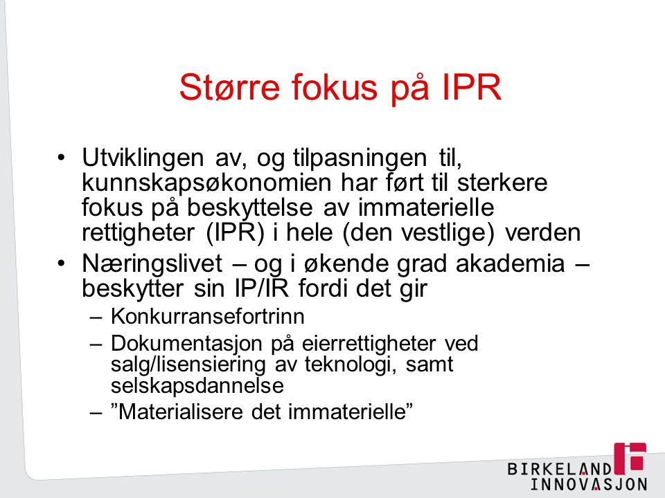 Større fokus på IPR