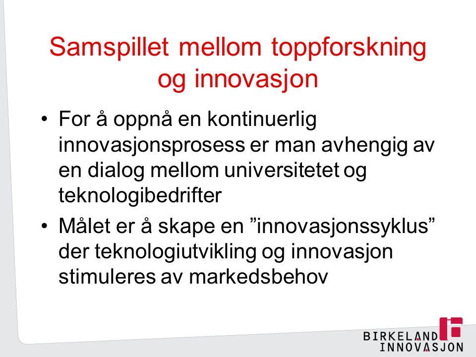 Samspillet mellom toppforskning og innovasjon