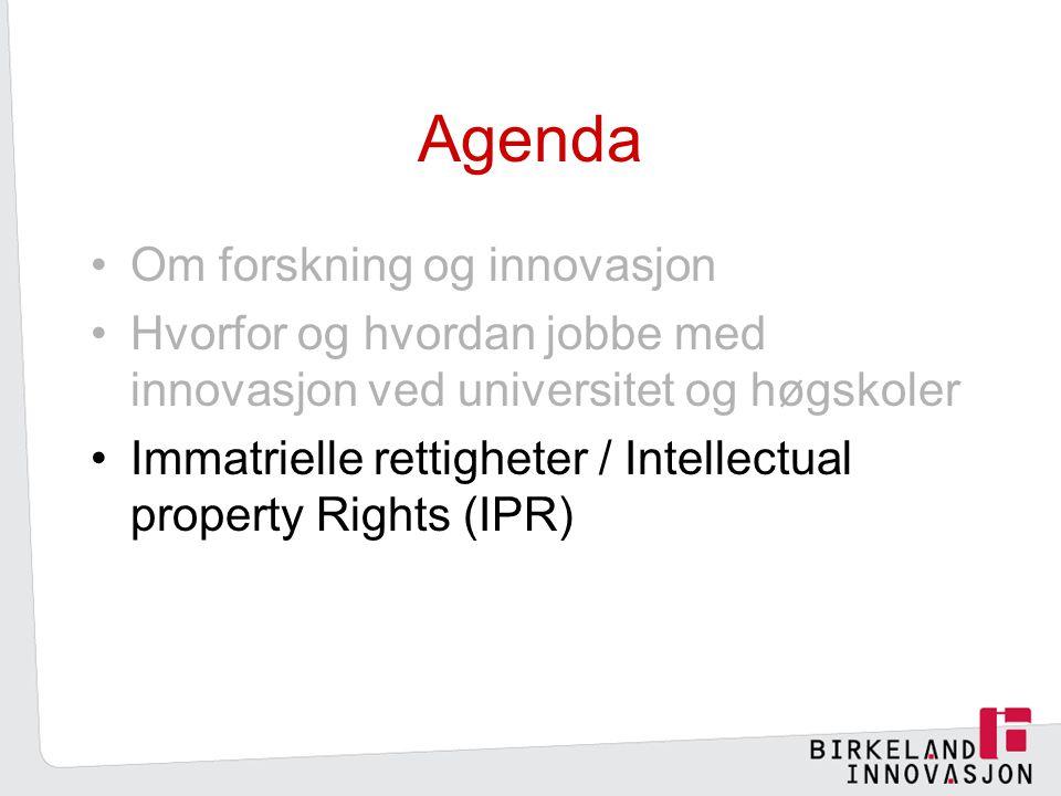 Agenda Om forskning og innovasjon