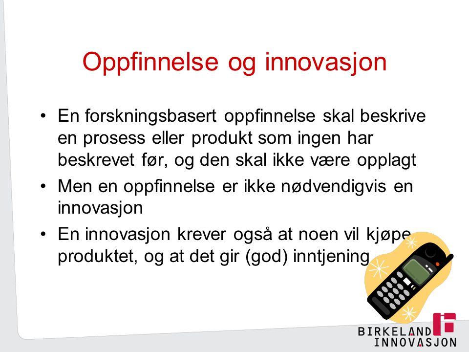 Oppfinnelse og innovasjon