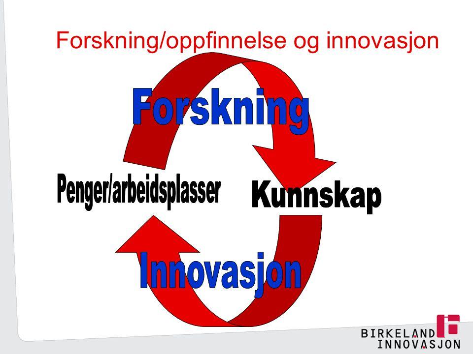 Forskning/oppfinnelse og innovasjon