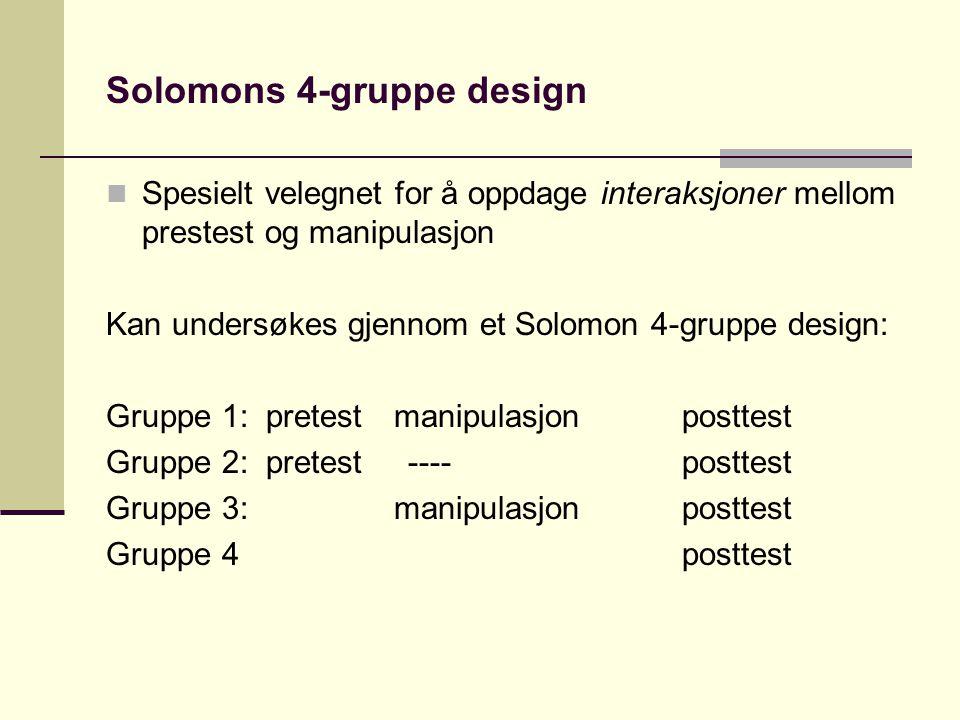 Solomons 4-gruppe design