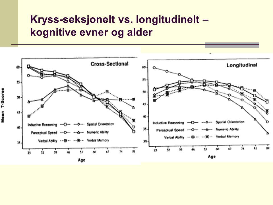 Kryss-seksjonelt vs. longitudinelt – kognitive evner og alder