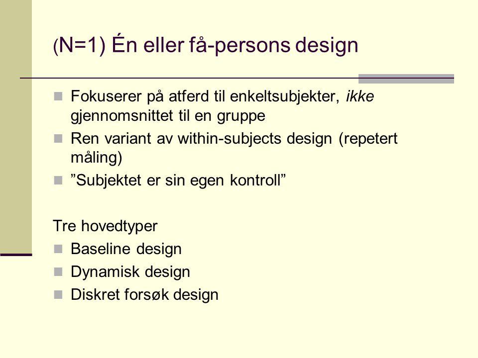 (N=1) Én eller få-persons design