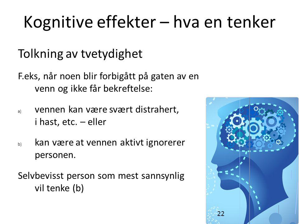 Kognitive effekter – hva en tenker