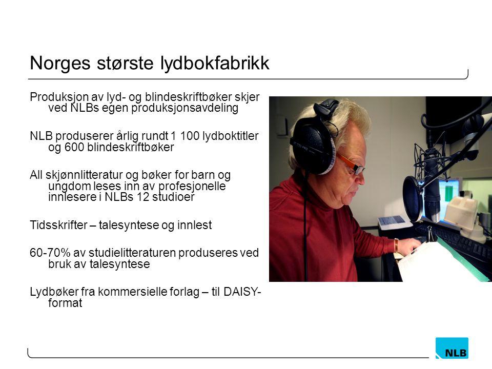 Norges største lydbokfabrikk