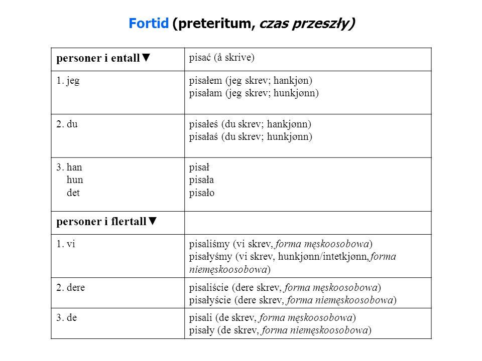 Fortid (preteritum, czas przeszły)