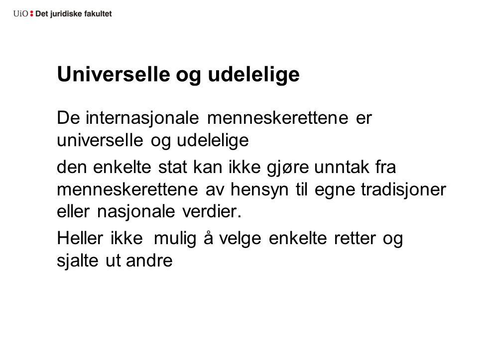 Universelle og udelelige