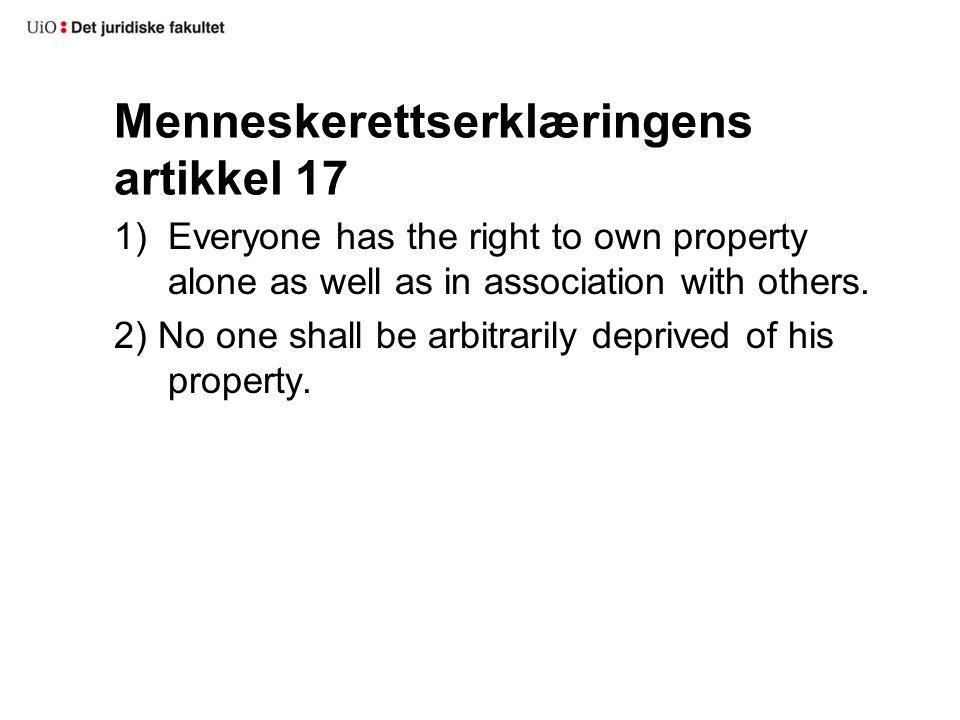 Menneskerettserklæringens artikkel 17