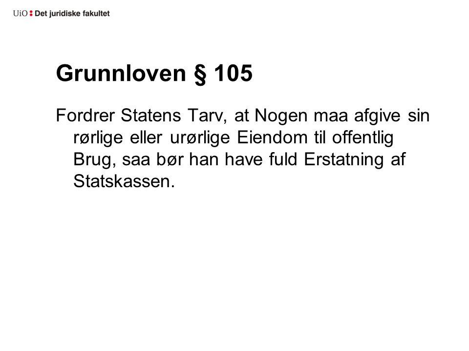 Grunnloven § 105